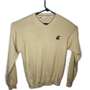 Cutter and Buck men's tan sweater. Size large
